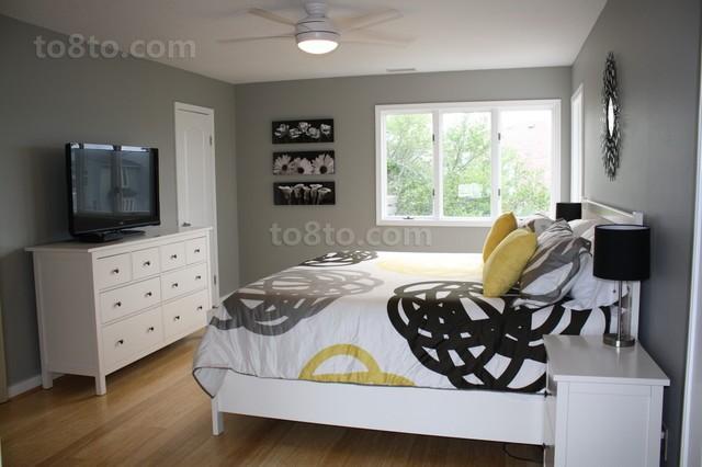 卧室实木地板装修效果图