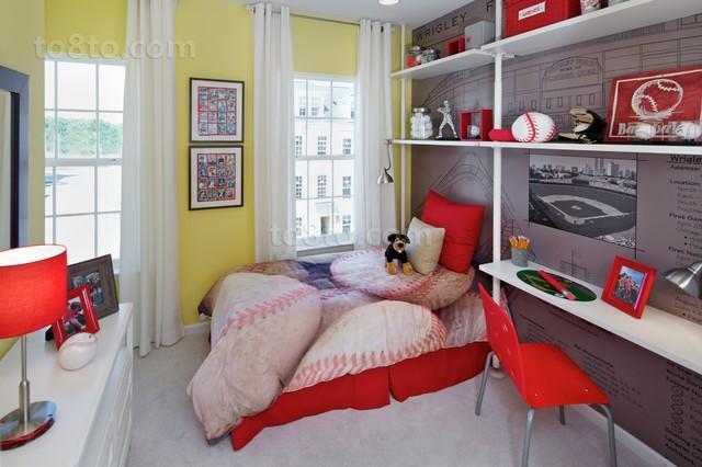 女孩儿童房装修效果图 卧室博古架装修效果图