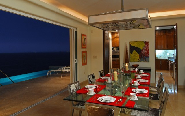 2013海滨别墅开放式餐厅装修效果图