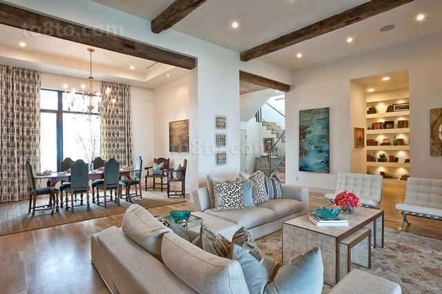 御峰园地中海风格客厅室内设计