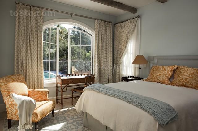 欧式卧室装修效果图 卧室窗帘设计图片