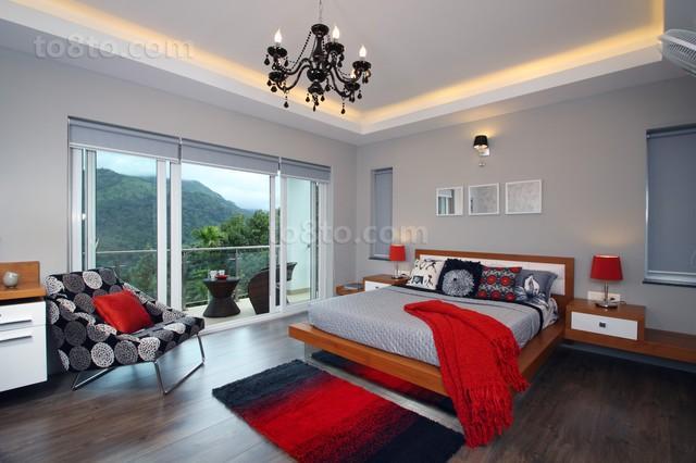 清新宜人的别墅卧室装修设计效果图2012