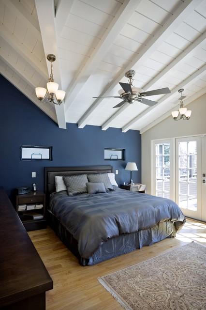 地中海风格一居卧室背景墙装修效果图