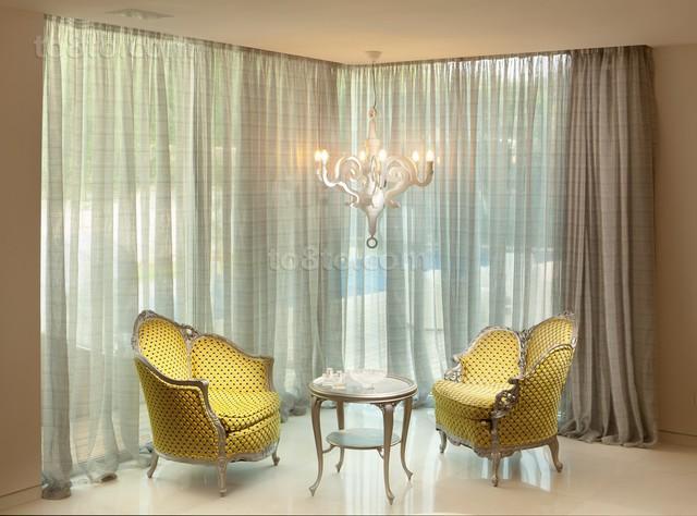 客厅窗帘图片