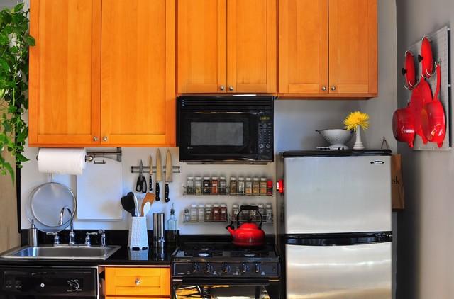 2018二居厨房混搭装修实景图片欣赏