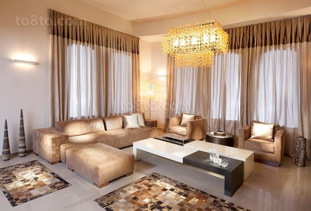 客厅窗帘沙发搭配效果图欣赏