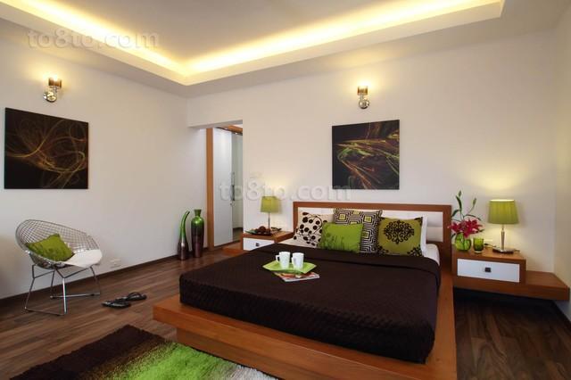 简约时尚的卧室装修效果图大全2012