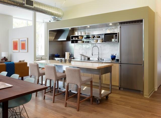 开放式厨房橱柜装修效果图大全