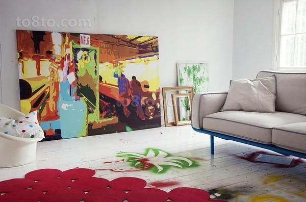 现代抽象装饰画贴图