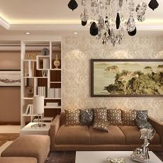 大小92平现代三居客厅效果图片欣赏