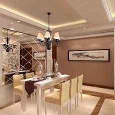 热门大小91平欧式三居客厅装修实景图