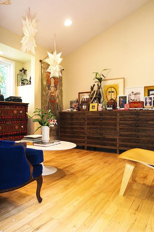 7万打造77平美式风格室内客厅一角设计