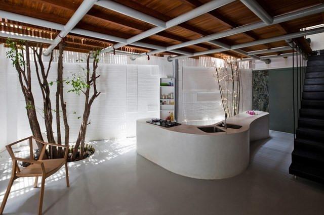 欧式乡村别墅创意厨房装修效果图大全2014图片