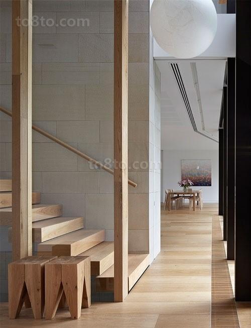 实木楼梯图片