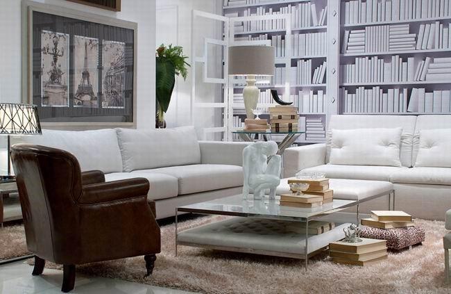 七万打造奢华现代简约风格客厅背景墙装修效果图