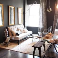 面积102平混搭三居客厅装修效果图