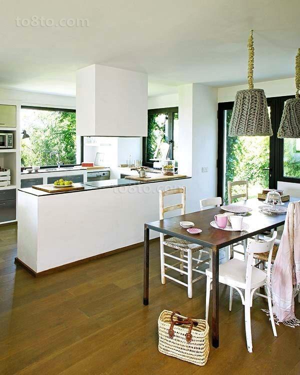 90平田园风格厨餐厅装修效果图大全2012图片