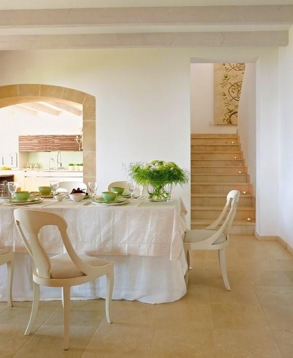 4万70平打造室内浪漫地中海风格餐厅装修效果图