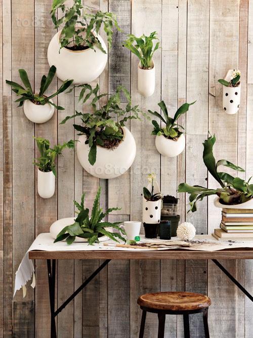 小户型创意挂壁式花卉阳台装修效果图大全2012图片
