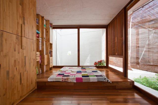 欧式乡村别墅原木调卧室装修效果图大全2012图片