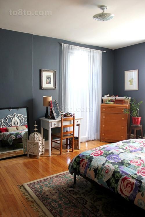 7万打造80后喜爱的现代家庭卧室窗帘装修