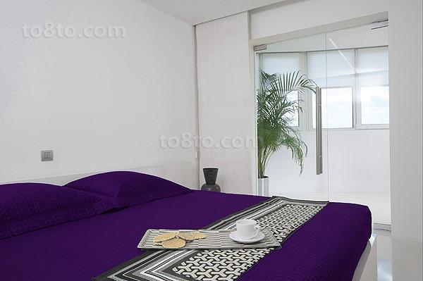 复式楼紫色高雅的卧室装修效果图大全2014图片