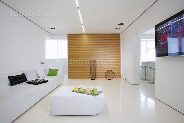 复式楼清新客厅装修效果图大全2014图片