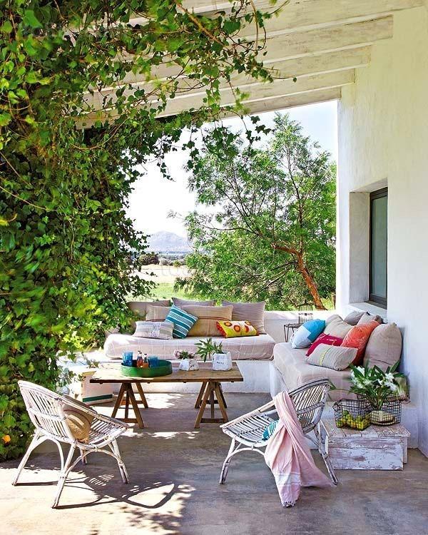 绿意空间田园风客厅阳台装修效果图大全2012图片