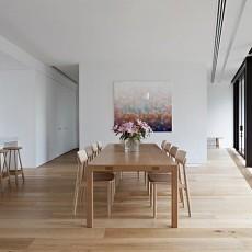 102平方三居餐厅混搭装修实景图片欣赏
