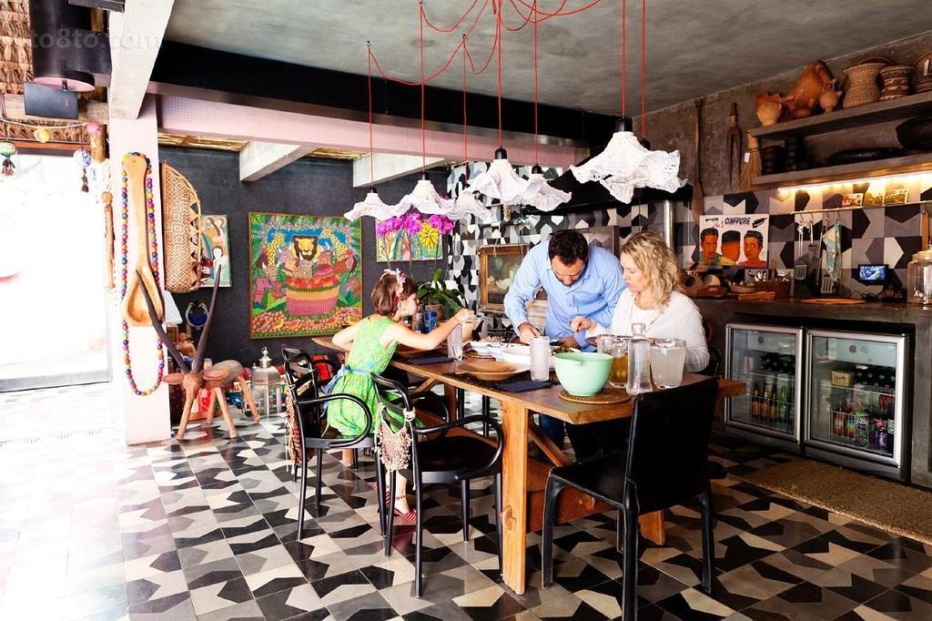 美式别墅温馨家庭餐厅装修效果图大全2014图片