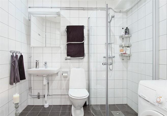 69平米小户型瑞典北欧单身公寓卫生间装修效果图大全2012图片