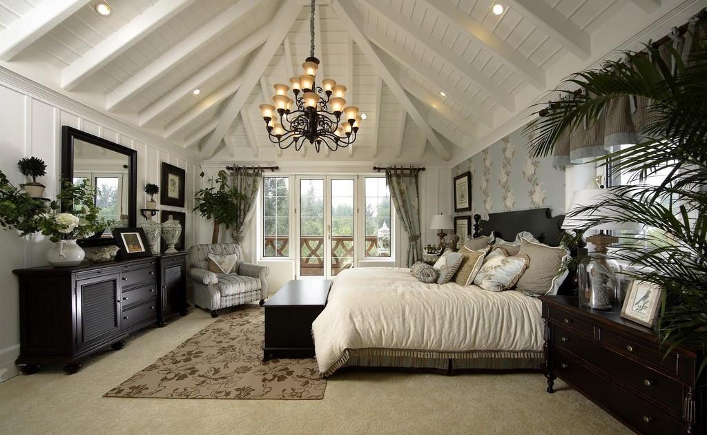 19万打造120平欧式简约风卧室装修效果图