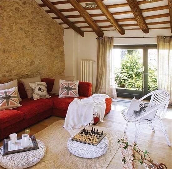 复式楼温暖明亮的西班牙风情客厅装修效果图大全2013图片