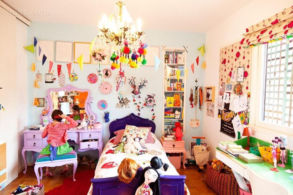 美式别墅温馨浪漫儿童房装修效果图大全2014图片