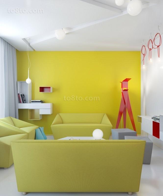 现代风格小户型客厅装修效果图2013