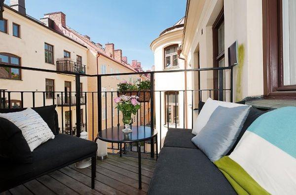 80平小户型北欧风格阳台装修效果图大全2012图片