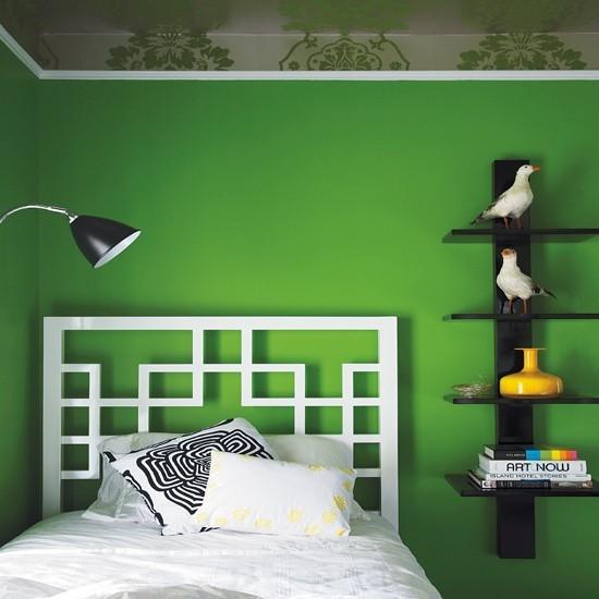80后最爱的二居室绿色宁谧卧室装修效果图大全2012图片