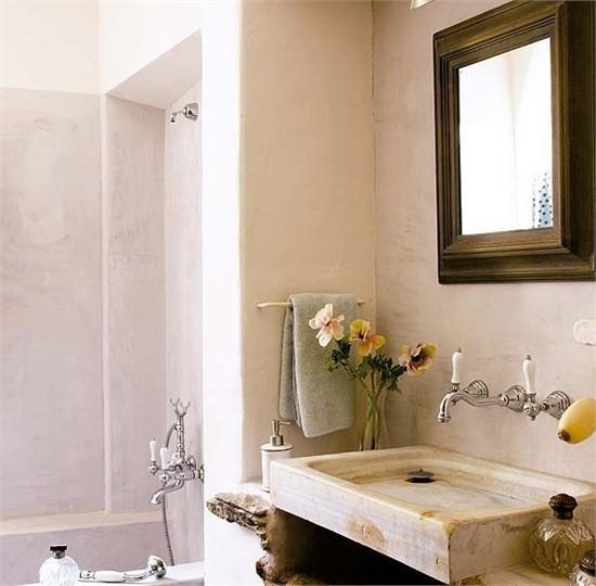 复式楼温暖明亮的西班牙风情卫生间装修效果图大全2013图片