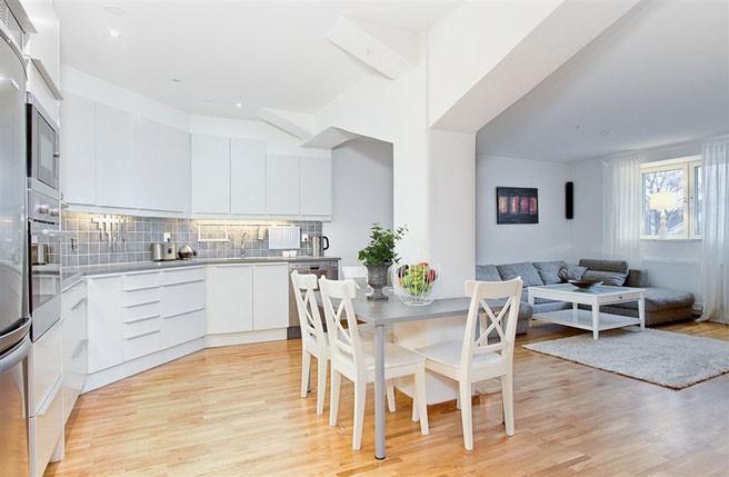 69平米小户型瑞典北欧单身公寓餐厅装修效果图大全2012图片