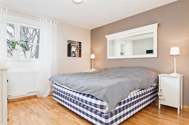 69平米小户型瑞典北欧单身公寓卧室装修效果图大全2014图片