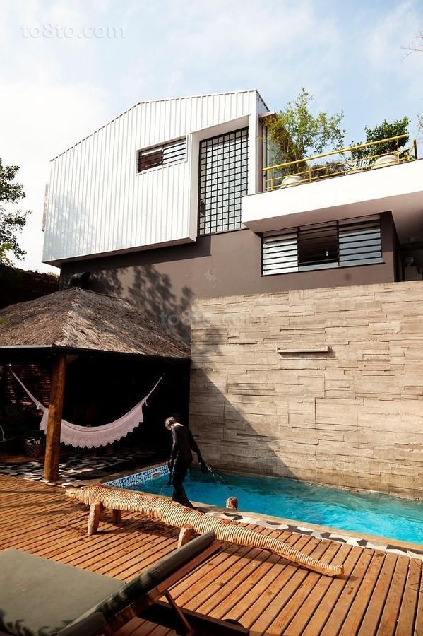 美式别墅温馨创意阳台装修效果图大全2014图片