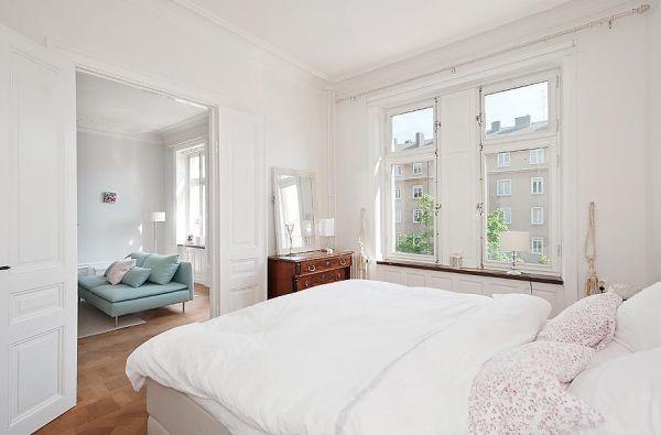 80平小户型北欧风格卧室装修效果图大全2012图片