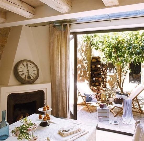 复式楼温暖明亮的田园风格阳台装修效果图大全2013图片