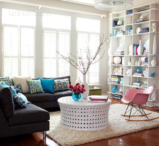 小清新客厅装修效果图大全2012图片