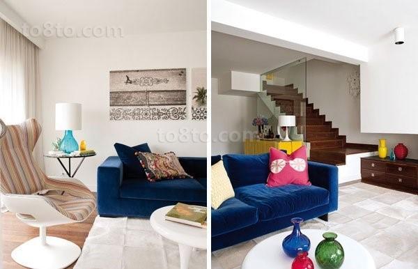 小复式楼客厅沙发室装修效果图大全2014图片