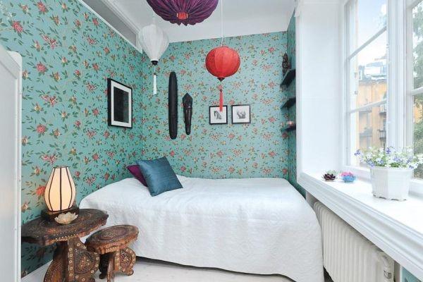 200平米田园家居卧室背景墙图片