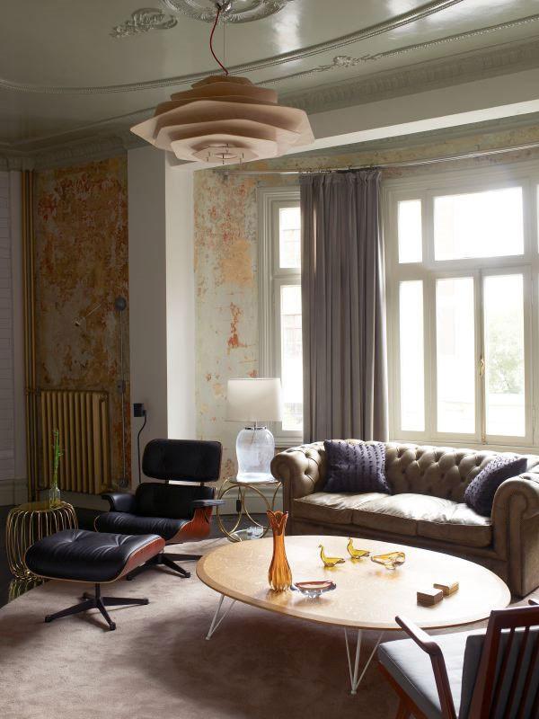7万现代温馨80平四居田园家居客厅吊顶装饰