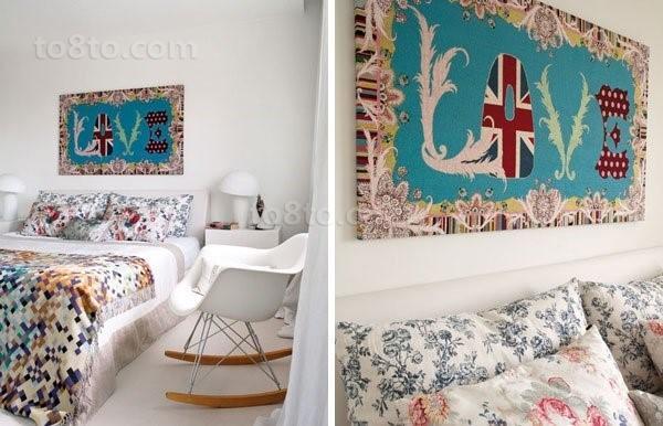 小复式楼田园风格卧室装修效果图大全2014图片