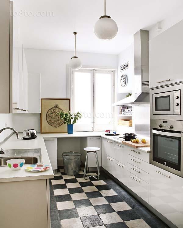 小三居时尚欧式现代风格厨房装修效果图大全2014图片
