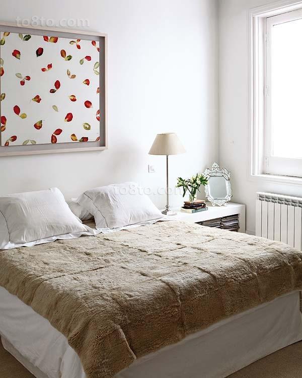 小三居欧式简约风格卧室装修效果图大全2014图片